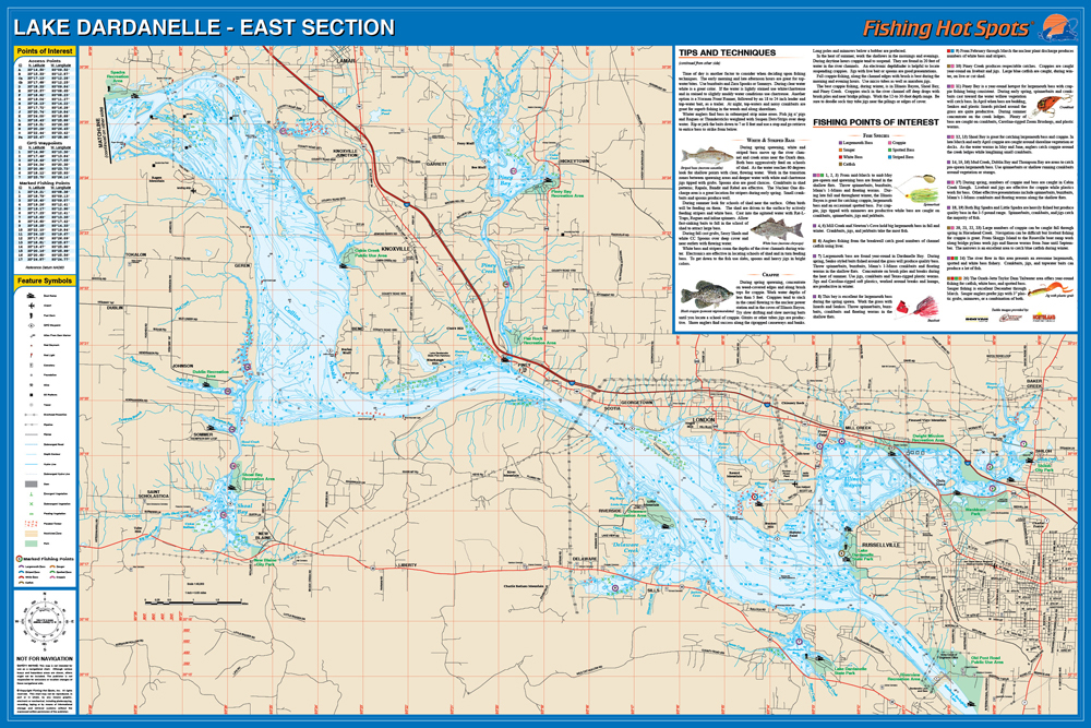 Lake Dardanelle Fishing Map