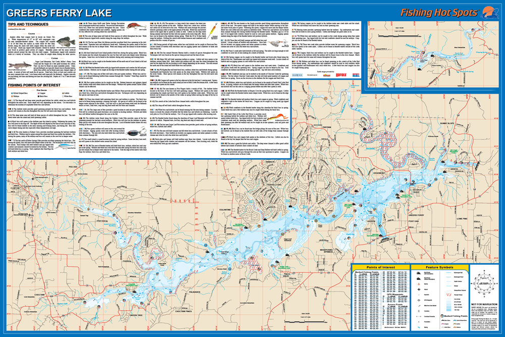 Greers Ferry Lake Map Greers Ferry Lake Fishing Map