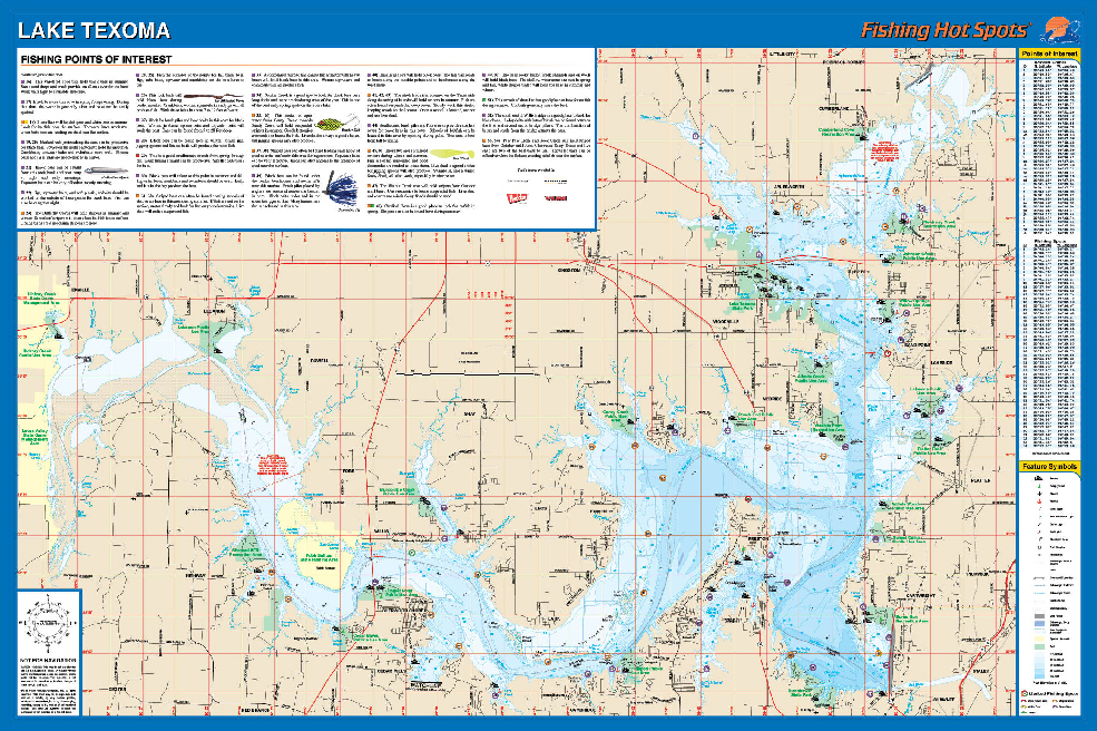Lake Texoma Map Texoma Fishing Map, Lake