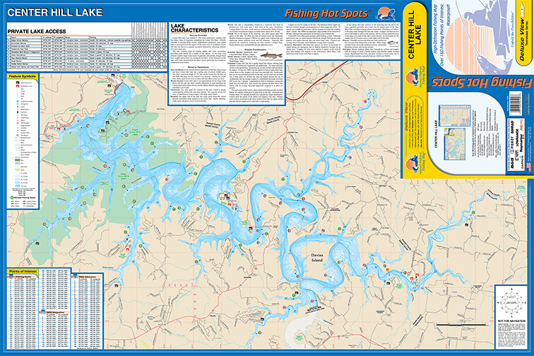 Center Hill Lake Fishing Map
