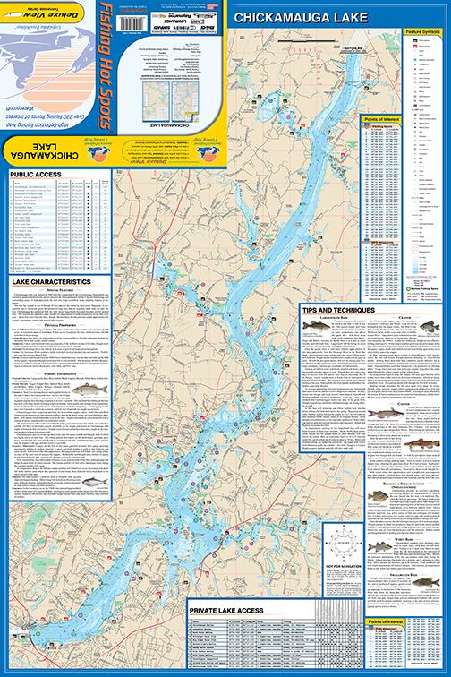 Chickamauga Fishing Map Lake