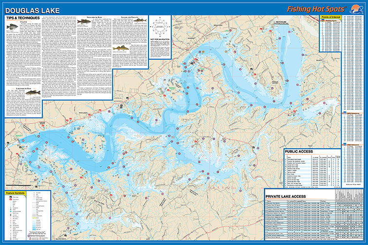 Douglas Lake Fishing Map - Tn lakes map
