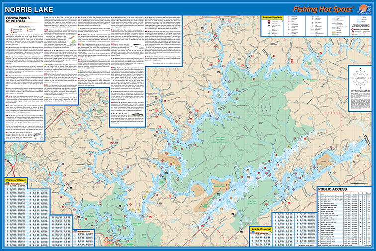 Norris lake fishing map for Norris lake fishing