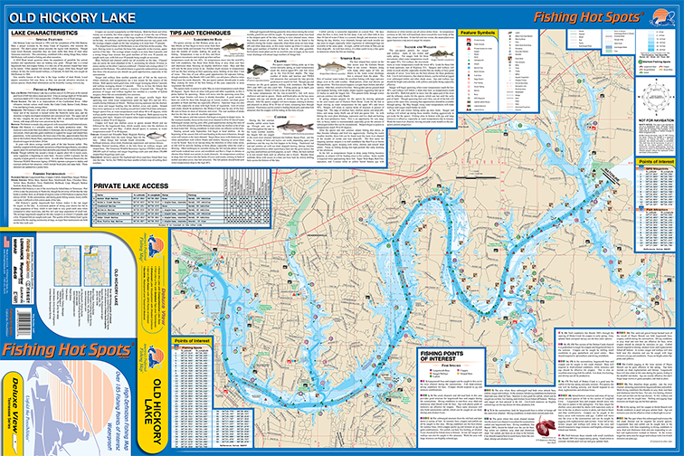 Old Hickory Lake Topographic Map.Old Hickory Lake Fishing Map