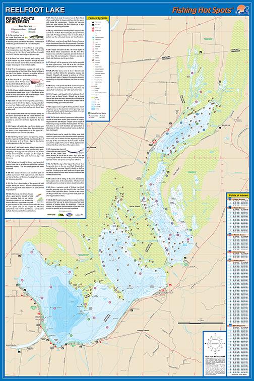 Reelfoot Lake Tennessee Map.Reelfoot Lake Fishing Map