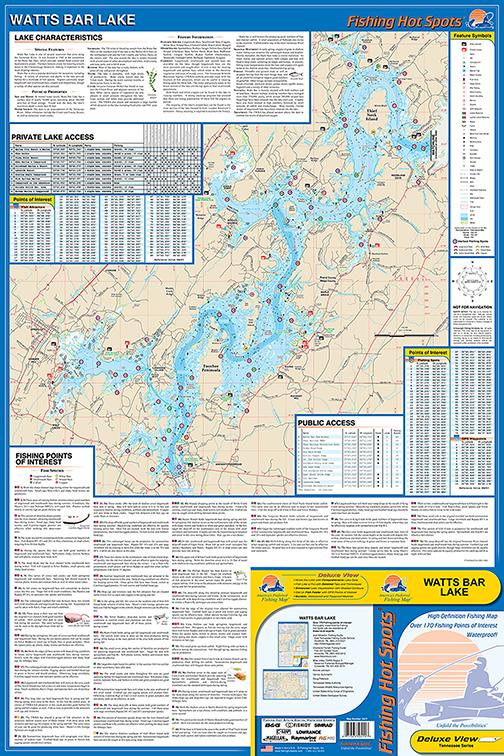 Watts bar lake fishing map for Lake chickamauga fishing map