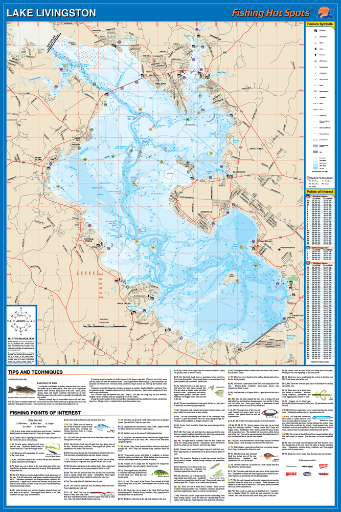 lake livingston map fishing Livingston Fishing Map Lake lake livingston map fishing