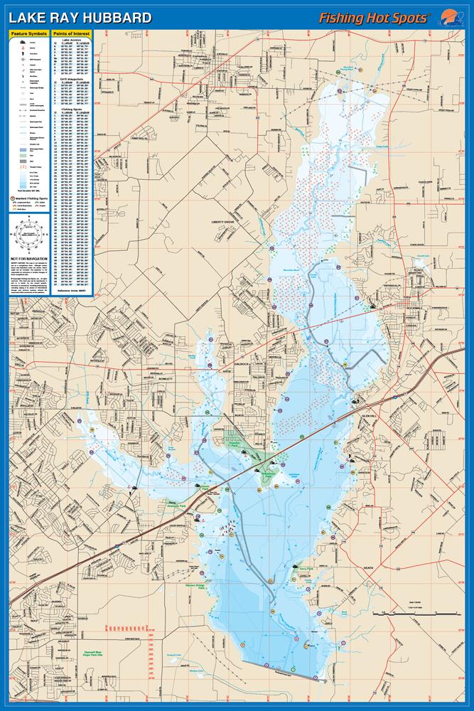 Ray hubbard fishing map lake publicscrutiny Images