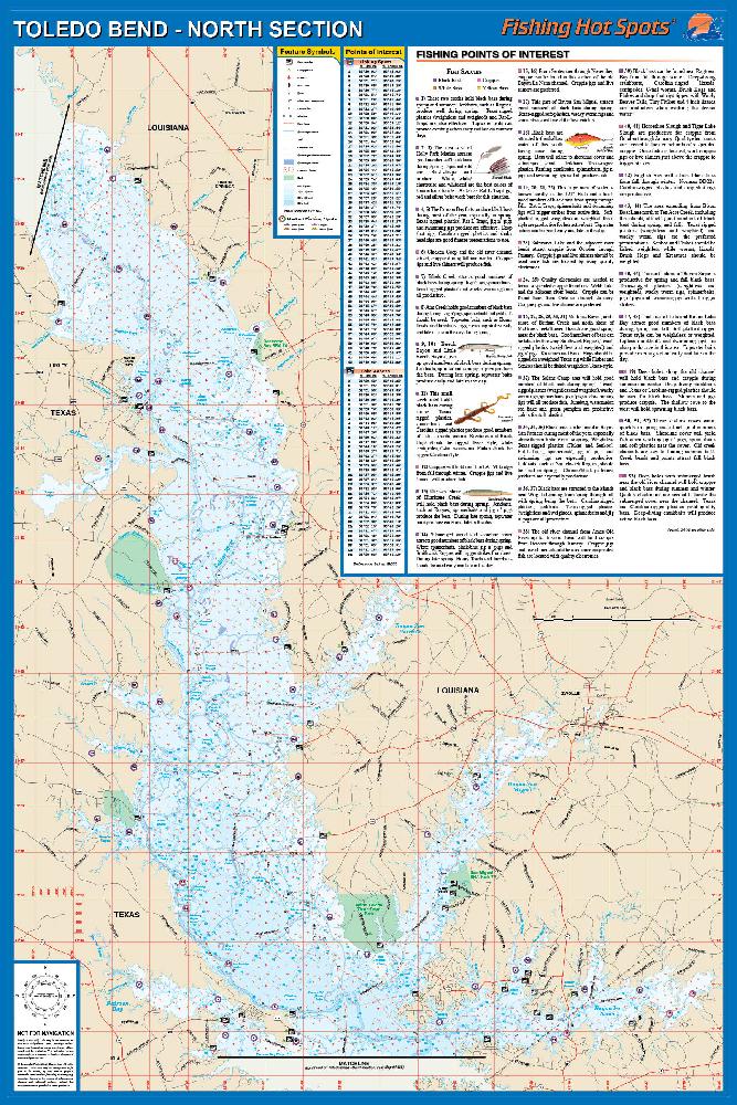 BendNorth Section Patroon Bay To Logansport LATX Fishing Map - Louisiana lakes map