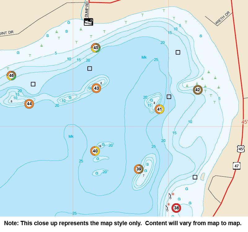 OntarioWestern Basin Fishing Map Lake Niagara Shoal - Ontario fishing lakes maps