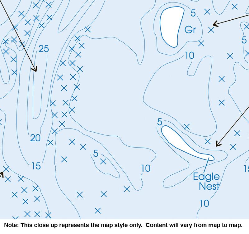 pelican lake wi map Pelican Lake Grant Co Fishing Map Mn Fishing Map pelican lake wi map