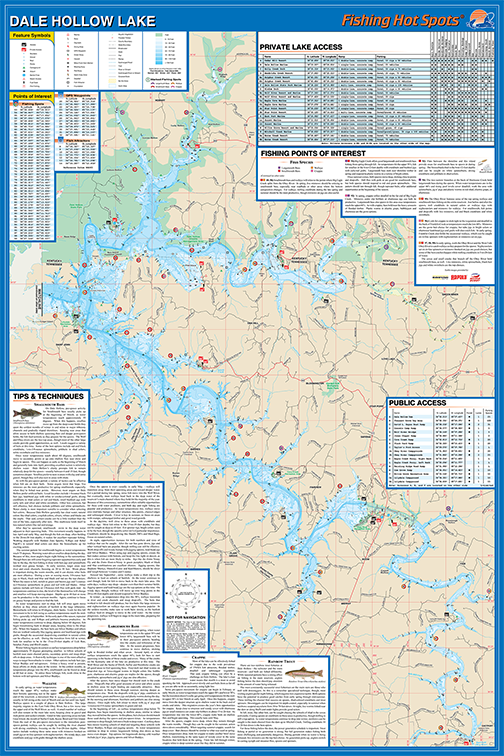 Map Of Dale Hollow Lake Dale Hollow Lake Fishing Map