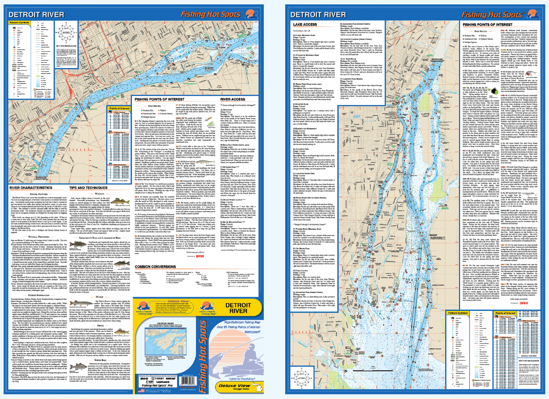 detroit river fishing map Detroit River Fishing Map detroit river fishing map