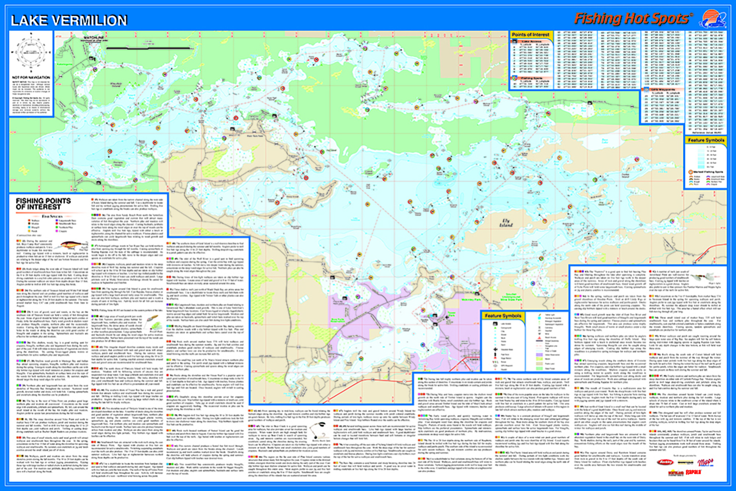 Vermilion Fishing Map Lake