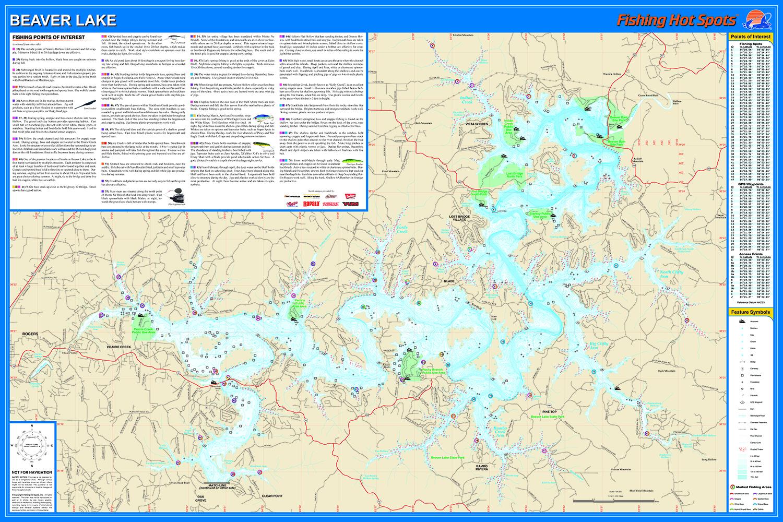 Beaver Lake Map Beaver Lake Fishing Map