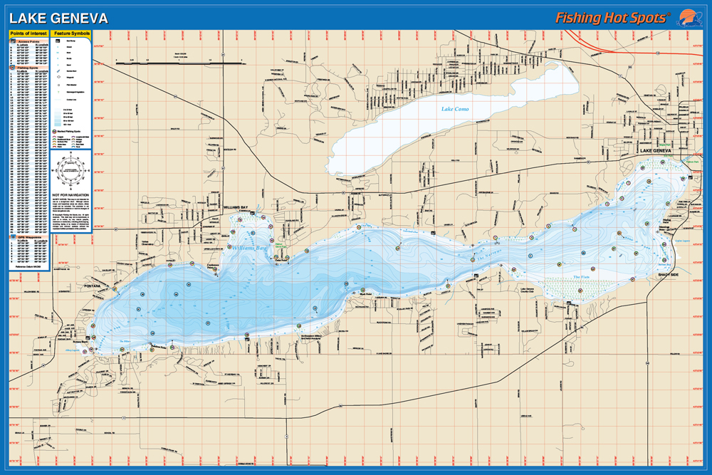 fishing map lake walworth co