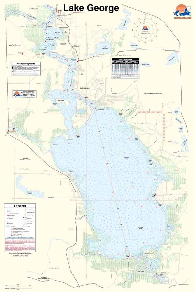 Florida Map Picture.George Fishing Map Lake Florida
