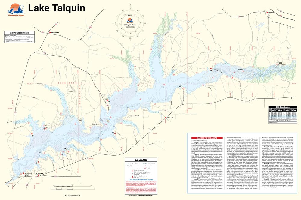 Lake talquin fishing map my blog for Lake talquin fishing report