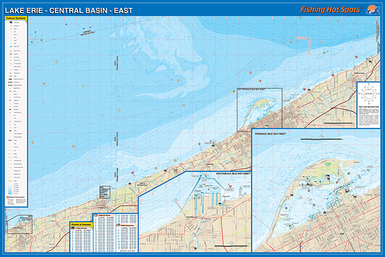 Erie Fishing Map LakeCentral Basin East Fishing Map Lake