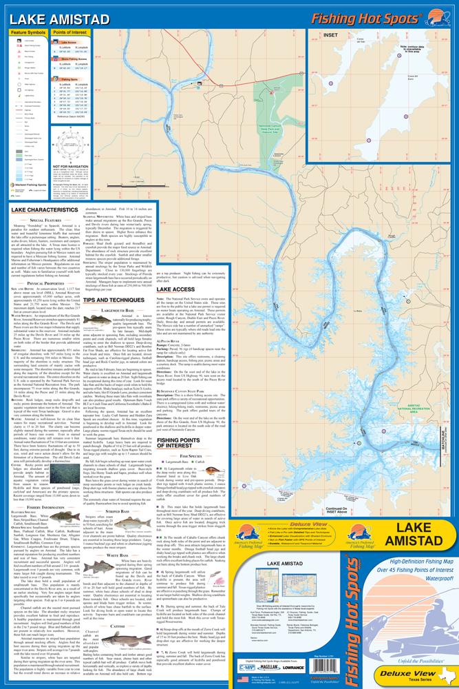 Lake amistad fishing map for Lake amistad fishing