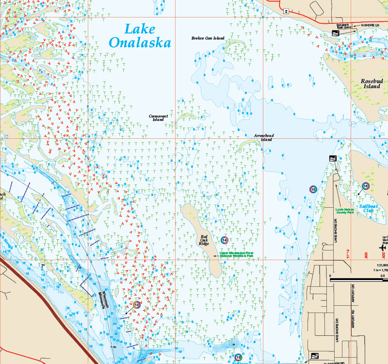 Mississippi River-Pool 9 Fishing Map