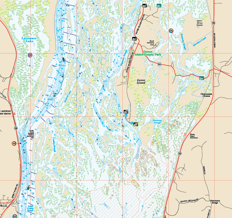 Mississippi RiverPool Fishing Map - Map mississippi