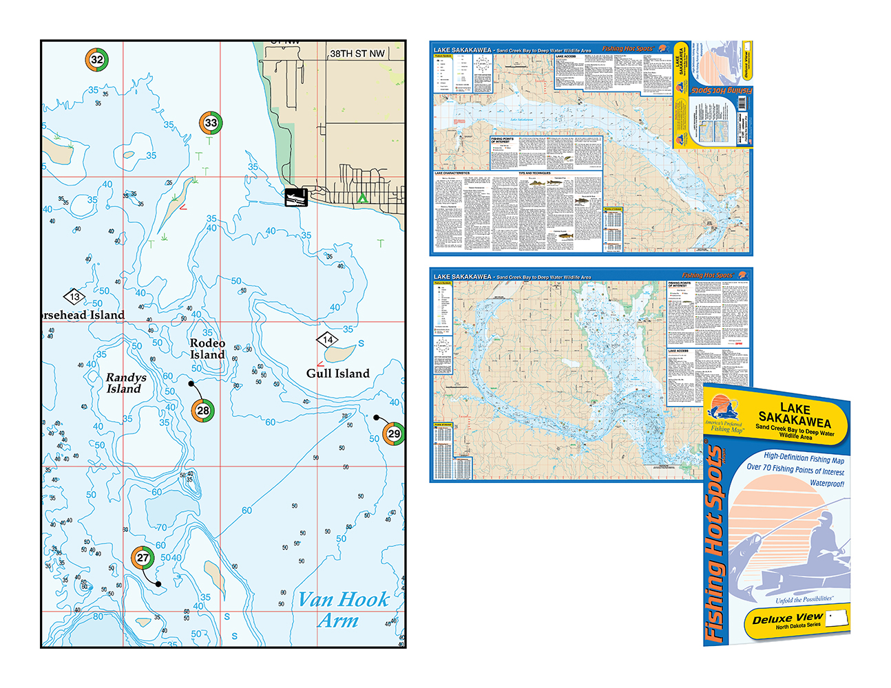 Devils lake fishing map for Deep sea fishing bay area
