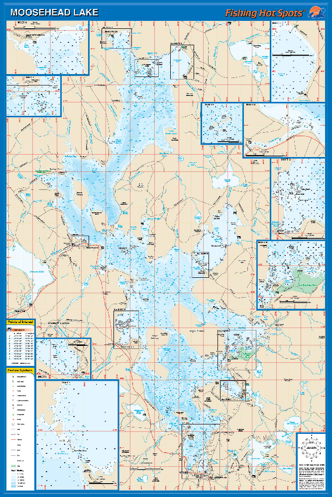 Moosehead lake fishing map for Fishing areas near me