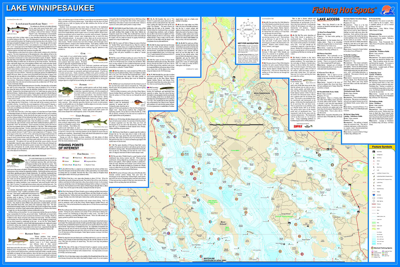 lake winnipesaukee fishing map Winnipesaukee Fishing Map Lake lake winnipesaukee fishing map