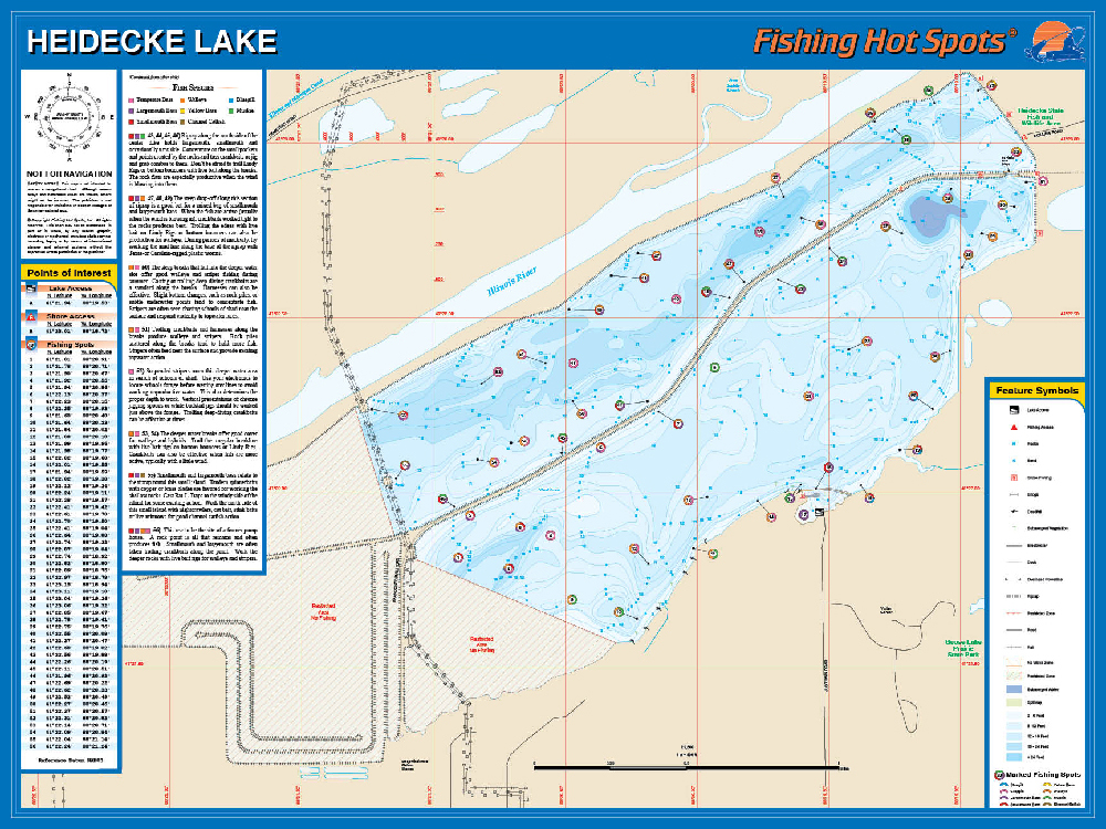 Heidecke collins lake fishing map for Best fishing lakes in illinois