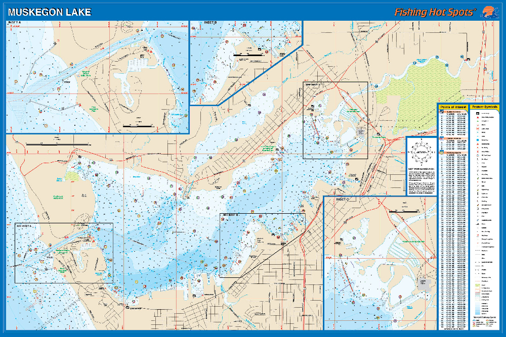 muskegon lake fishing map Muskegon Lake Fishing Map muskegon lake fishing map