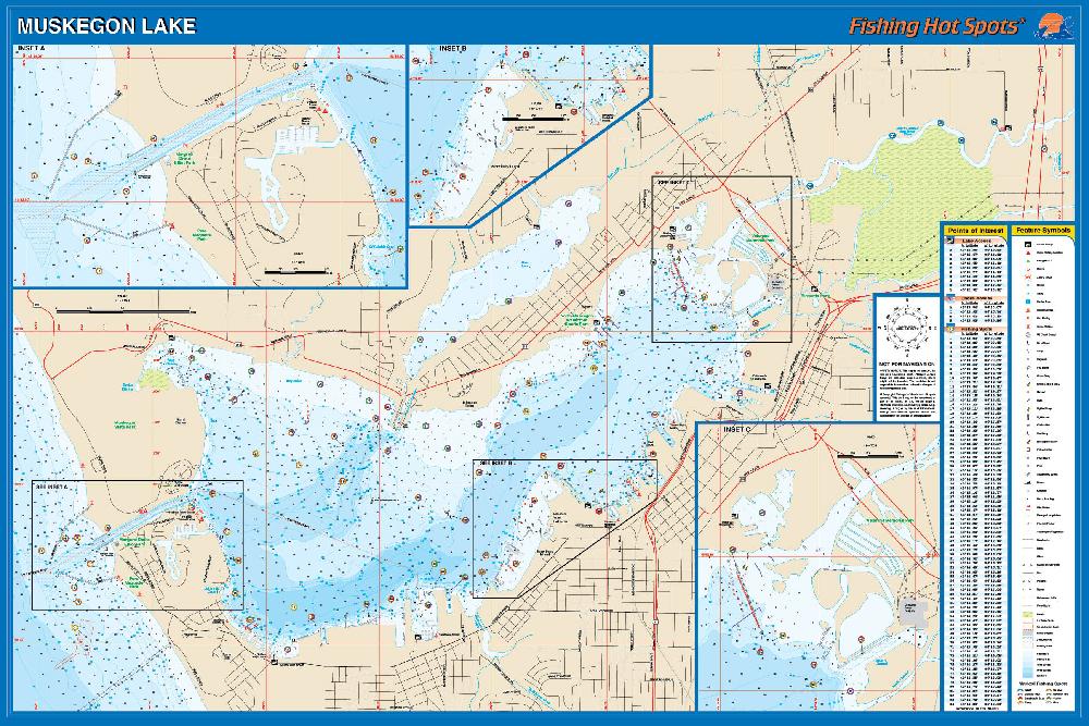 Muskegon Lake Fishing Map