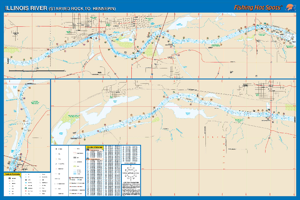 Illinois River Starved Rock To Hennepin Fishing Map