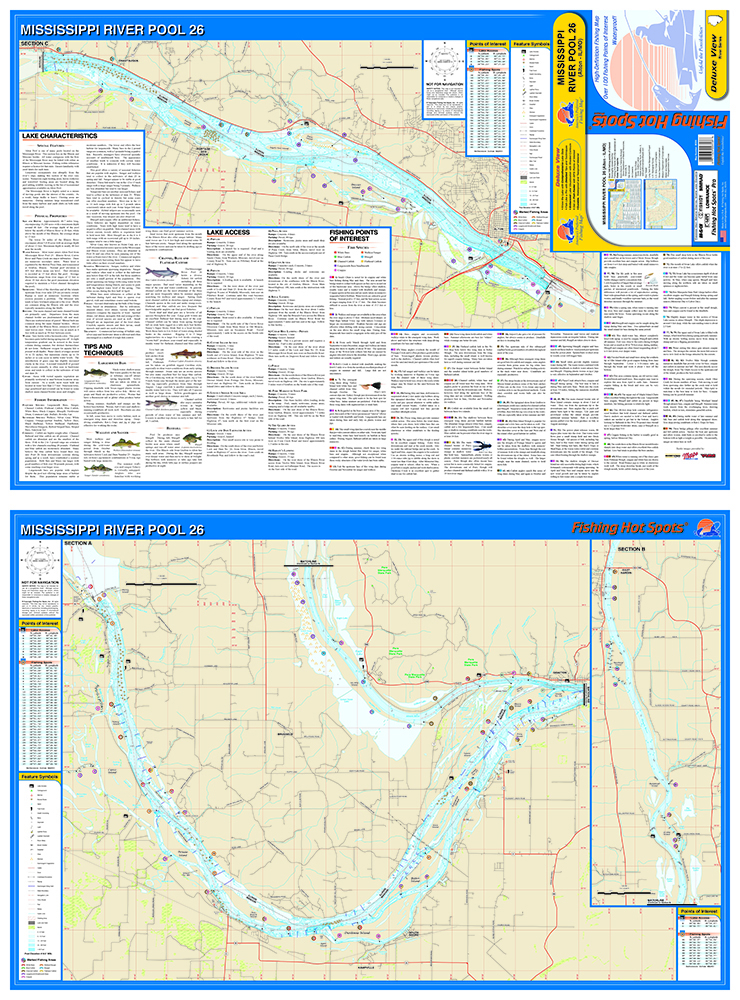 Mississippi RiverPool Alton ILMO Fishing Map - Map of the mississippi river