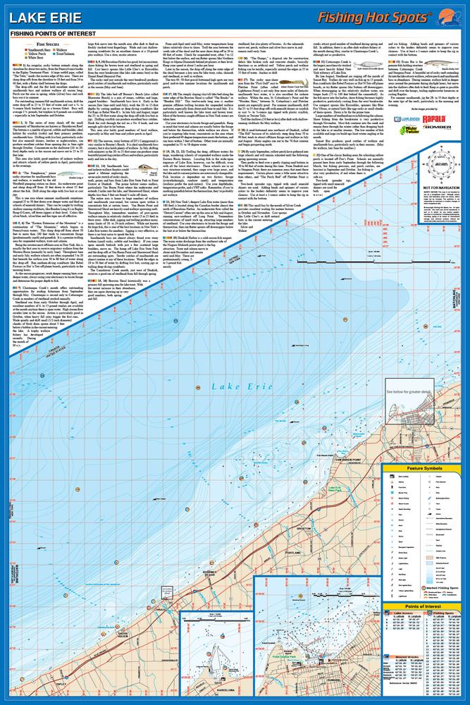 Erie Fishing Map LakeEastern Basin NYPA LineSturgeon Point - Lake erie fishing hot spots map