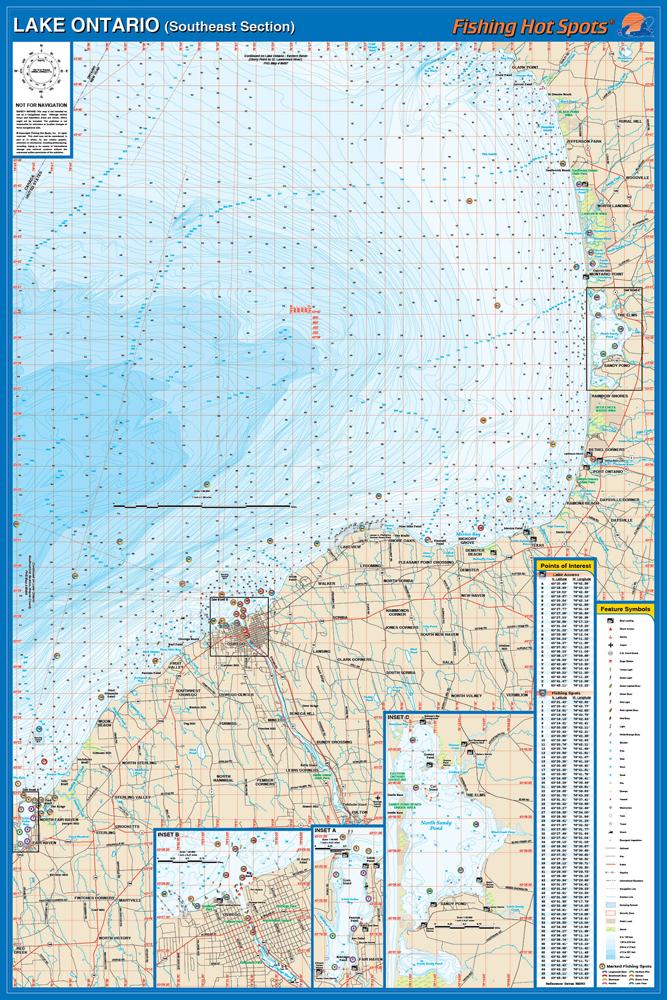 Ontario Fishing Map Lake Oswego Area