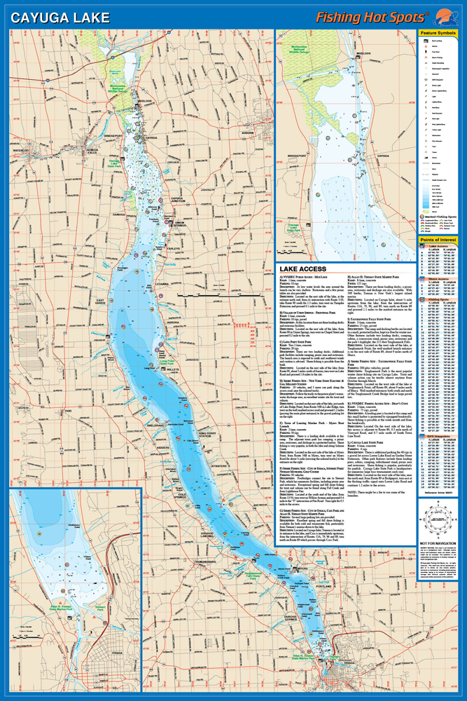 Cayuga Lake Fishing Map
