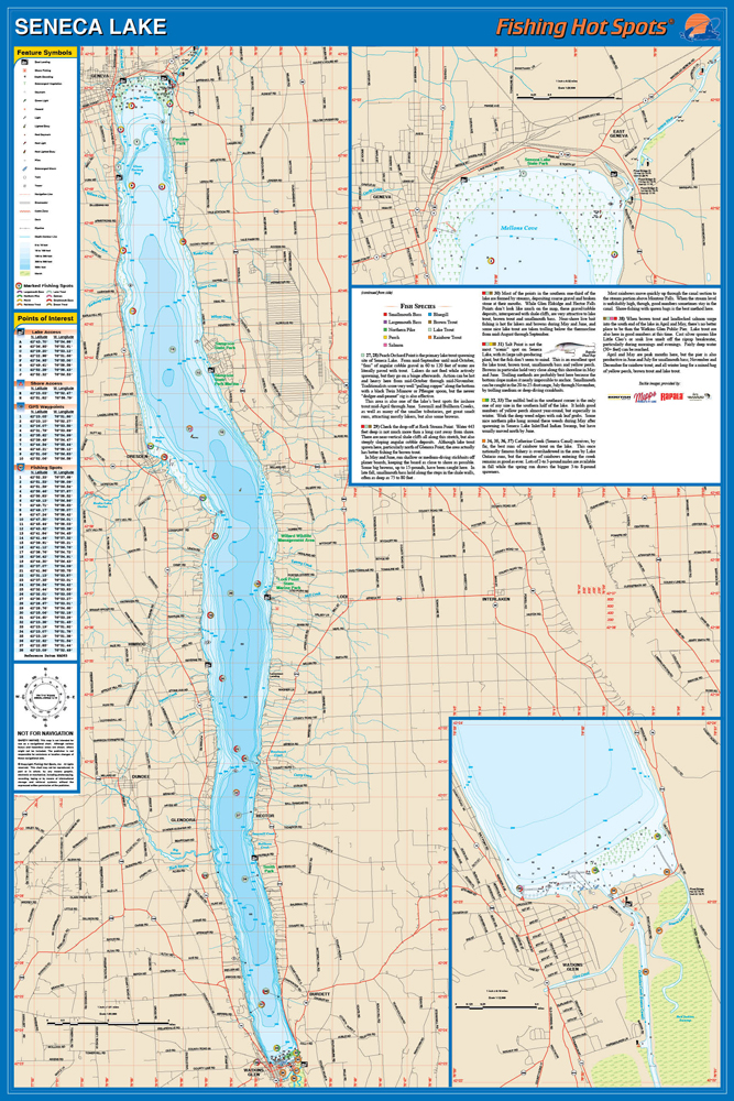 Seneca lake fishing map for Salmon river ny fishing map