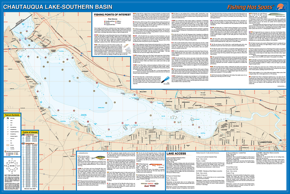 Chautauqua Lake Fishing Map