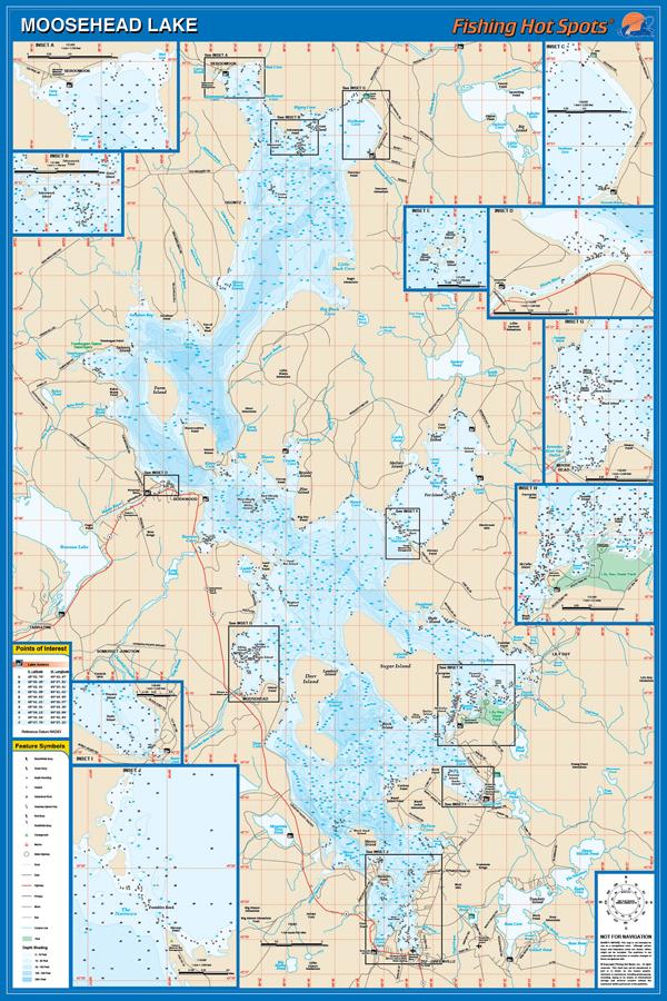Moosehead Lake Map Moosehead Lake Fishing Map